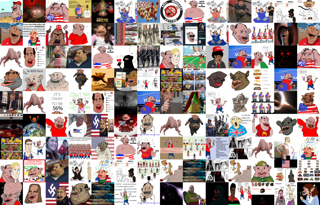 4chan images tagged as Amerimutt