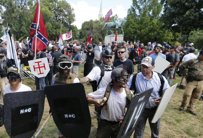 The Christian Cross with Deus Vult in Charlottesville