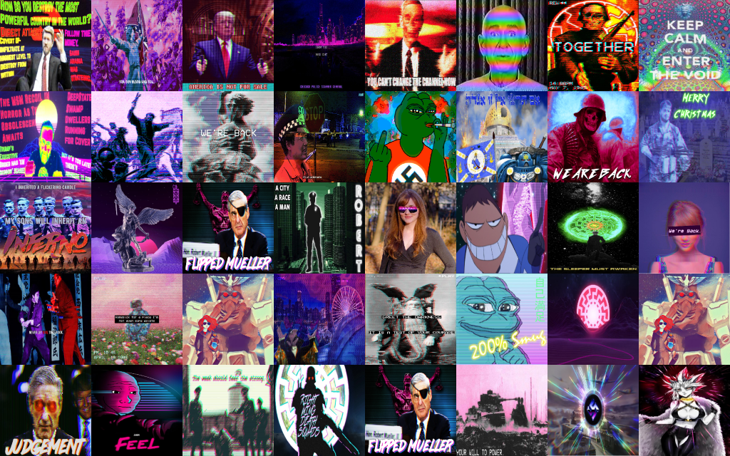 4chan/pol/ images tagged as 'vaporwave'