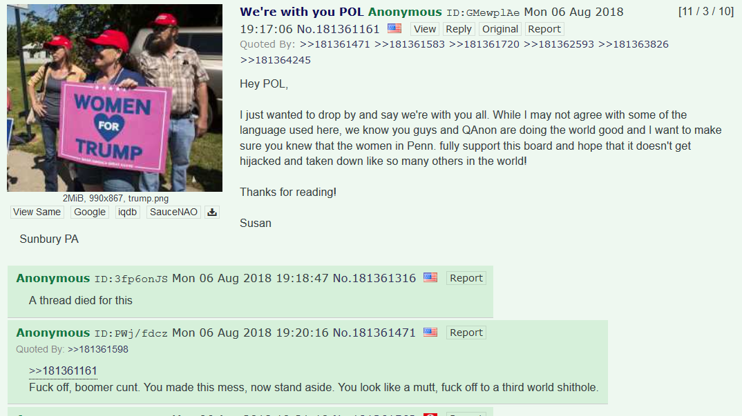 Gatekeeping on /pol/ (be aware that the OP could very likely be a troll)