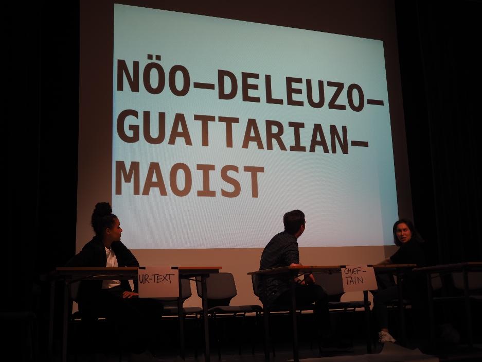 "Political compass: A combination: ""Nöo-Deleuzo-Guattarian Maoist"""