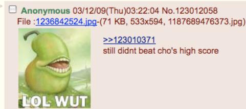 """beating the high score"", encouraging terrorism on 4chan/b/"