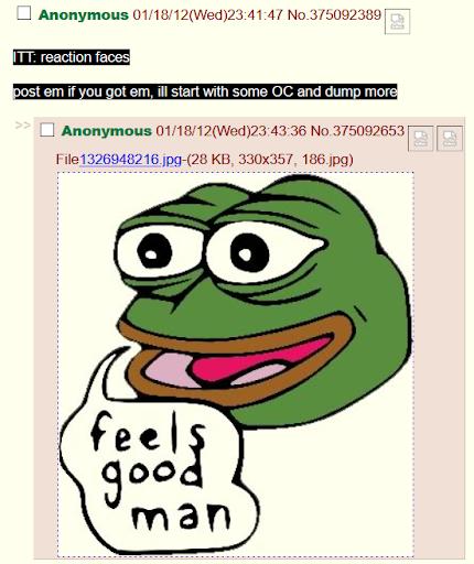 Pepe the Frog on 4chan/b/